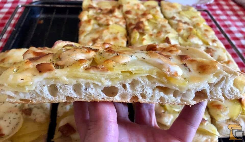 ricetta pizza con patate di bonci