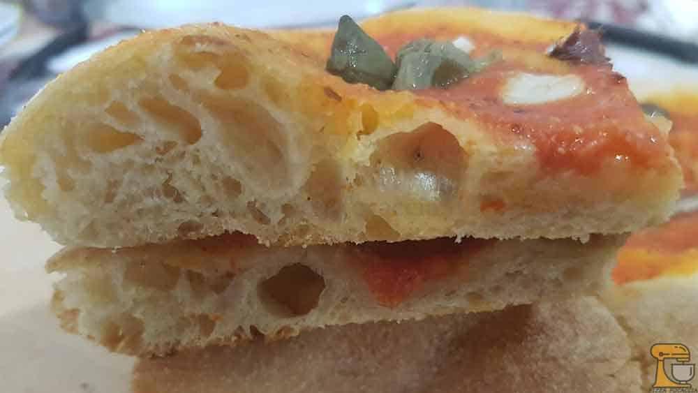 Impasto pizza bonci, Base Impasto bianco di grano